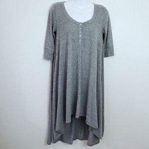 WE THE FREE Casual Dress Hi/Low Hem 3/4 Sleeve